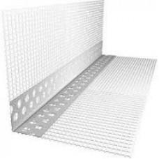 Уголок фасадный с сеткой (10*10) ПВХ перфорированный Канташульц 3м